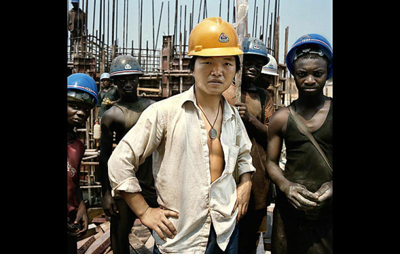 China and Africa workers